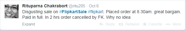 flipkart tweet from customer