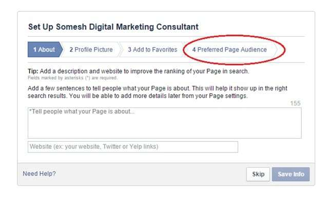 Preferred page audience in facebook