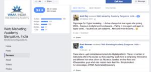 Web Marketing Academy Facebook Reviews
